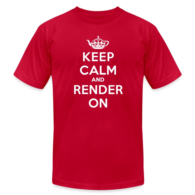 Keep calm and render on - Men's T-Shirt by American Apparel
