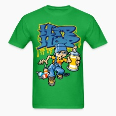 Hip_hop graffitis and b-boy T-Shirts