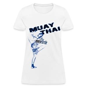 Womens Inner Circle Muay Thai - White - Women's T-Shirt