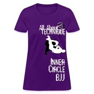 Womens Inner Circle BJJ Technique - Purple - Women's T-Shirt