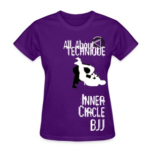 Womens Inner Circle BJJ Technique - Purple - Women's T-Shirt