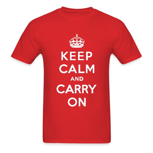 Keep Clam and Carry On Men's T-Shirt - Men's T-Shirt