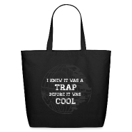 Bags & backpacks ~ Eco-Friendly Cotton Tote ~ Hipster Trap Dark Tote