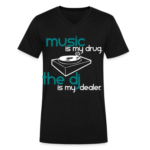 Music (v neck) - Men's V-Neck T-Shirt by Canvas