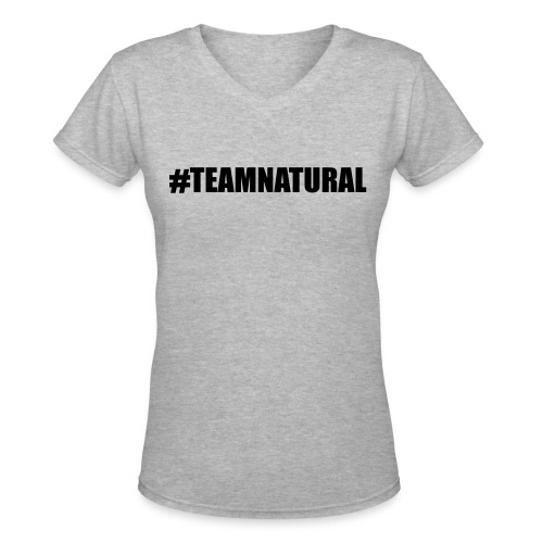 Team Natural Kutee - Women's V-Neck T-Shirt
