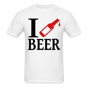I Love / Heart Beer T-Shirts