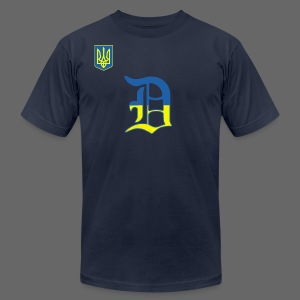 Detroit Ukraine Flag - Men's T-Shirt by American Apparel