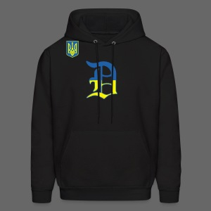 Detroit Ukraine Flag - Men's Hoodie