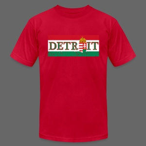 Detroit Hungarian Flag - Men's T-Shirt by American Apparel