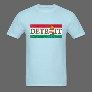 Detroit Hungarian Flag - Men's T-Shirt