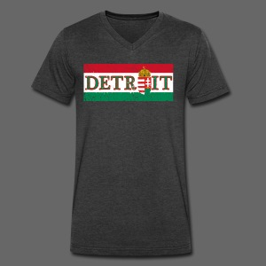 Detroit Hungarian Flag - Men's V-Neck T-Shirt by Canvas