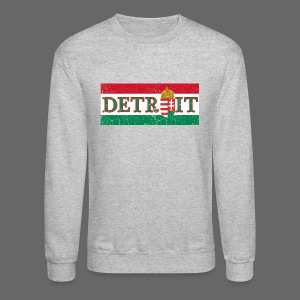 Detroit Hungarian Flag - Crewneck Sweatshirt