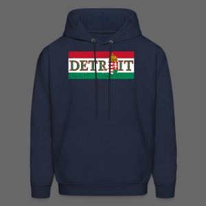 Detroit Hungarian Flag - Men's Hoodie