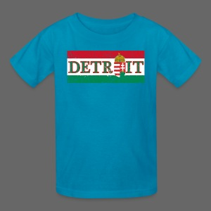 Detroit Hungarian Flag - Kids' T-Shirt
