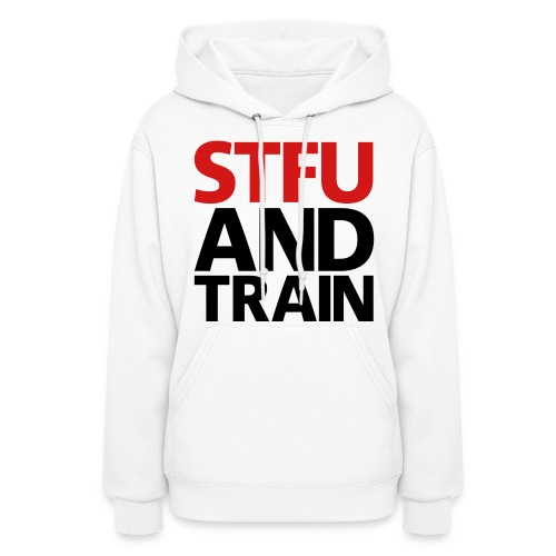 Women's Hoodie - vests,tops,tees,tee,strong is the new skinny,sleeveless,shutup and squat shirt,shredded,shirts womens,quotes,no excuses,muscle,monster,mens,male and female hoodies,lean,jacked,fitness,bodybuilding gear,beast,T-shirts,Gym Motivation,Gym Freak,Facebook