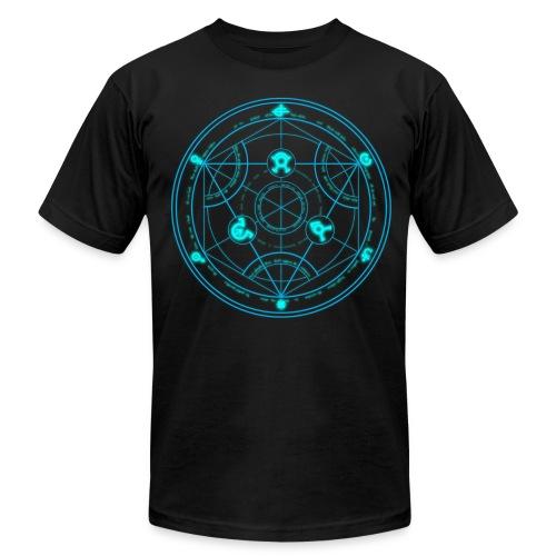 Human Transmutation Circle and Formula - Glow - Reverse - Men's Fine Jersey T-Shirt