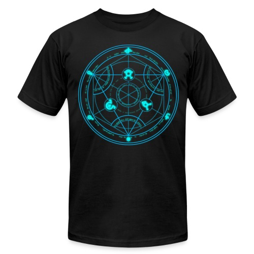 Human Transmutation Circle and Formula - Glow - Reverse - Men's  Jersey T-Shirt