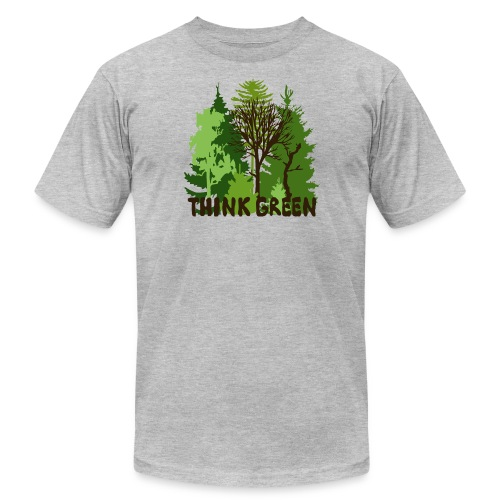 eco bag t-shirt Earth Day Think Green forest trees wilderness mother nature - Men's Fine Jersey T-Shirt