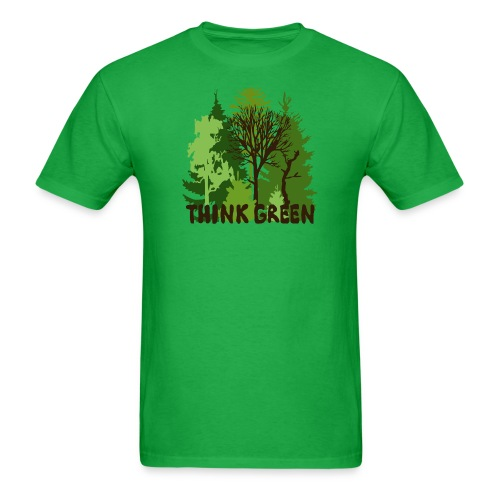 eco bag t-shirt Earth Day Think Green forest trees wilderness mother nature - Men's T-Shirt