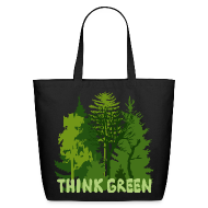 Bags & backpacks ~ Eco-Friendly Cotton Tote ~ eco bag t-shirt Earth Day Think Green forest trees wilderness mother nature