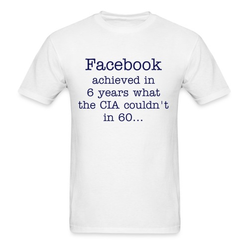 Facebook/CIA - Men's T-Shirt