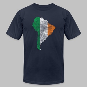 South American Irish Flag - Men's T-Shirt by American Apparel