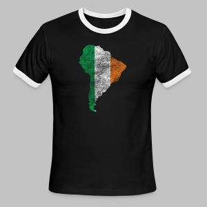 South American Irish Flag - Men's Ringer T-Shirt