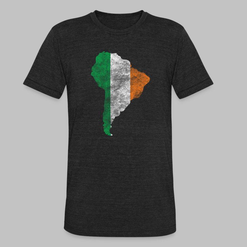 South American Irish Flag - Unisex Tri-Blend T-Shirt by American Apparel