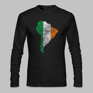 South American Irish Flag - Men's Long Sleeve T-Shirt by Next Level