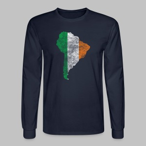 South American Irish Flag - Men's Long Sleeve T-Shirt