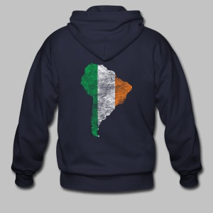 South American Irish Flag - Men's Zip Hoodie