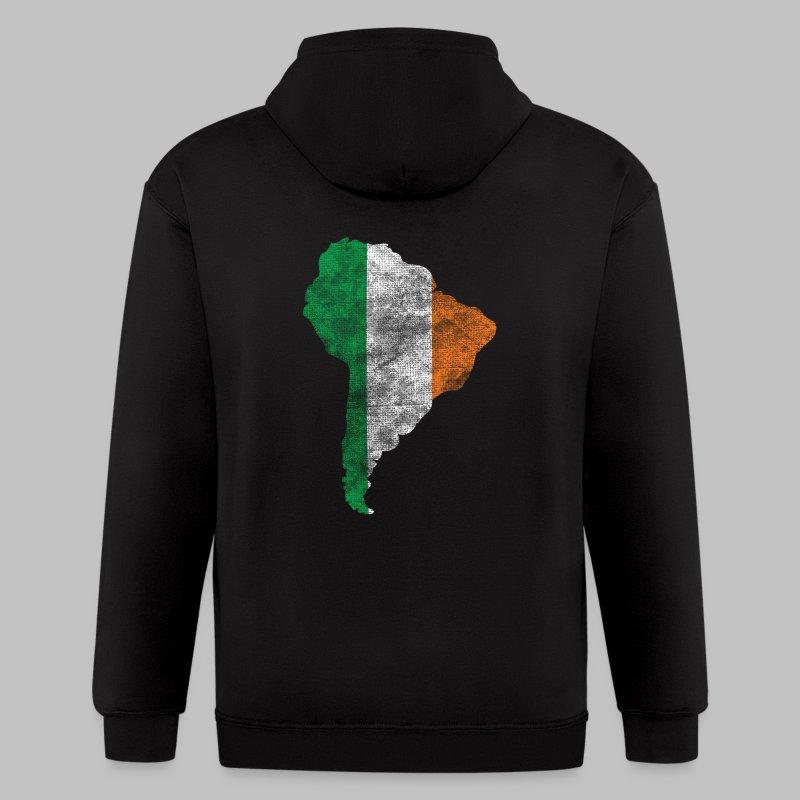 South American Irish Flag - Men's Zip Hoodie