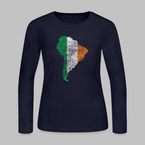 South American Irish Flag - Women's Long Sleeve Jersey T-Shirt