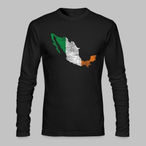 Mexico Irish Flag - Men's Long Sleeve T-Shirt by Next Level