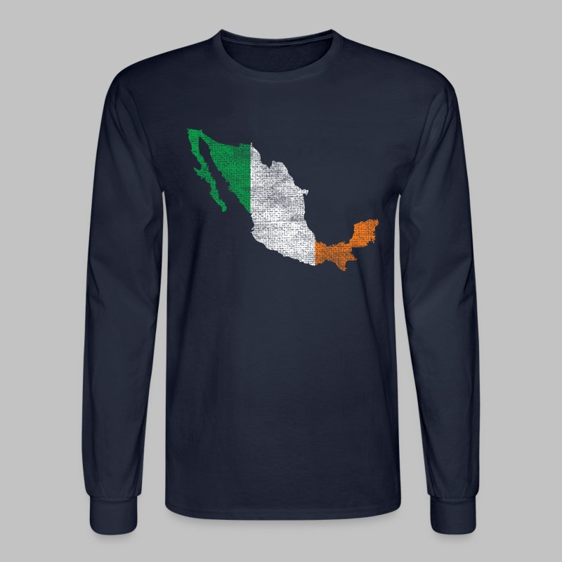 Mexico Irish Flag - Men's Long Sleeve T-Shirt