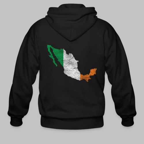 Mexico Irish Flag - Men's Zip Hoodie
