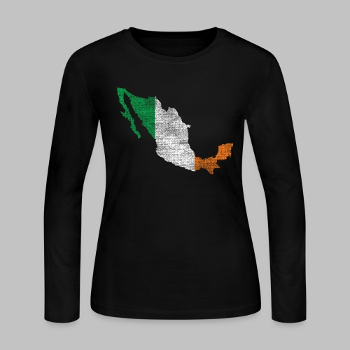 Mexico Irish Flag - Women's Long Sleeve Jersey T-Shirt
