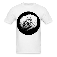 T-Shirts ~ Men's T-Shirt ~ Mens Black and White Rose Circle Street Style Fashion T-Shirt