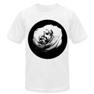T-Shirts ~ Men's T-Shirt by American Apparel ~ Mens Black and White Rose Circle Street Style Fashion T-Shirt