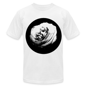 Mens Black and White Rose Circle Street Style Fashion T-Shirt - Men's T-Shirt by American Apparel