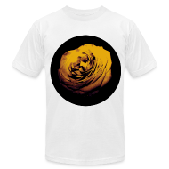T-Shirts ~ Men's T-Shirt by American Apparel ~ Mens Yellow Rose Circle Street Style Fashion T-Shirt