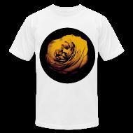 T-Shirts ~ Men's T-Shirt by American Apparel ~ Mens Yellow Rose Circle Street Style Fashion T-Shirt