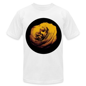 Mens Yellow Rose Circle Street Style Fashion T-Shirt - Men's T-Shirt by American Apparel