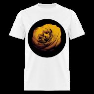 T-Shirts ~ Men's T-Shirt ~ Mens Yellow Rose Circle Street Style Fashion T-Shirt