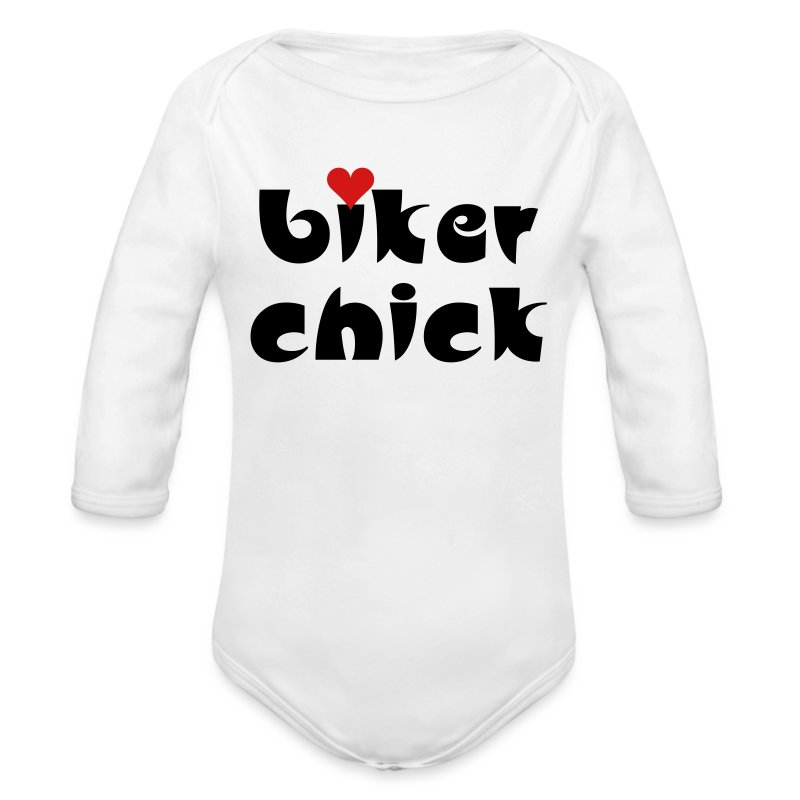Biker Chick Small Heart Baby Bodysuits - Baby Long Sleeve One Piece