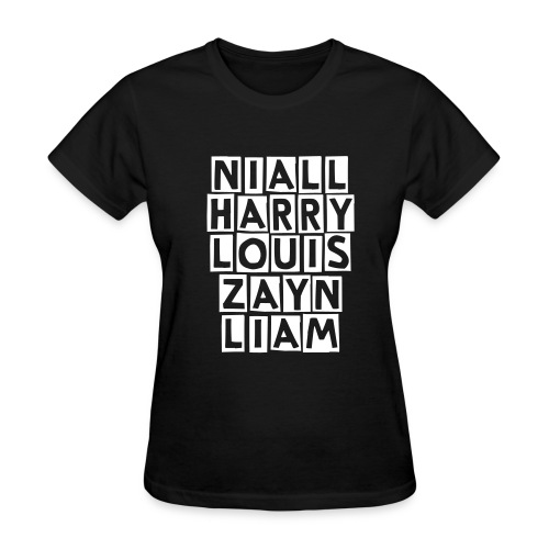 One Direction Names - Women's T-Shirt