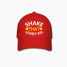 shake that lovely ass! with love hearts Caps