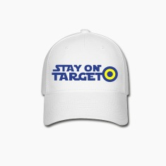 STAY ON TARGET star centre awesome! Caps