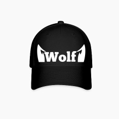 wolf in type with cute ears Caps