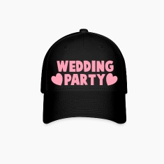 wedding party new cartoonist with love hearts Caps